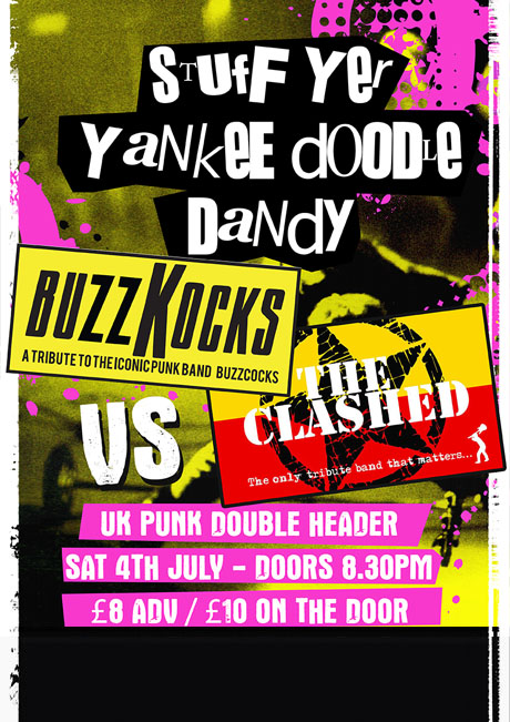BUZZKOCKS VS THE  CLASHED - SAT 4TH JULY