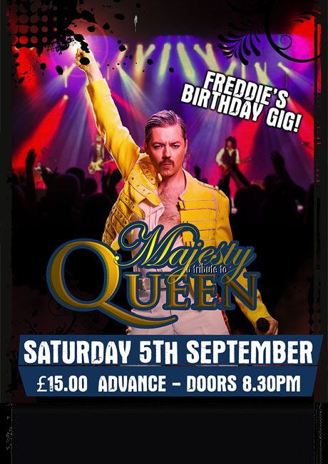 MAJESTY (QUEEN TRIBUTE) - SAT 5TH SEPT