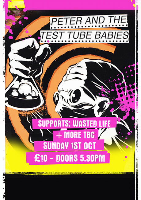 PETER AND THE TEST TUBE BABIES - SUN 1ST OCT