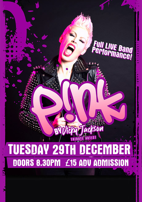 PINK TRIBUTE - TUES 29TH DEC