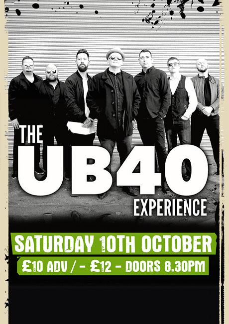 UB40 EXPERIENCE - SAT 10TH OCT