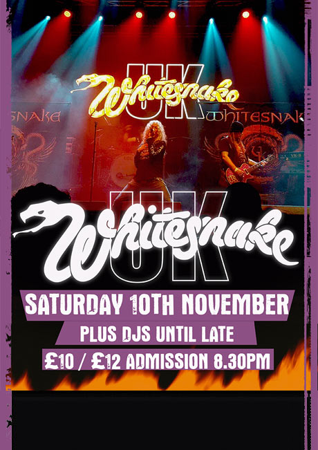 WHITESNAKE UK - SAT 10TH NOVEMBER
